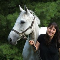 Paige Cerulli and Whisper, a Thoroughbred mare.