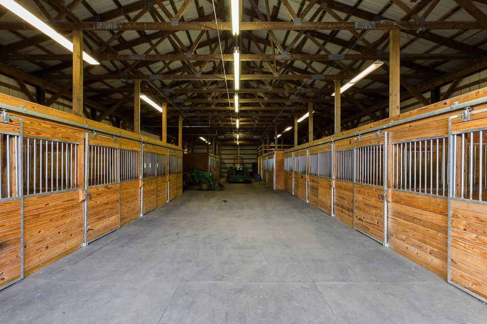 Stall doors in barn