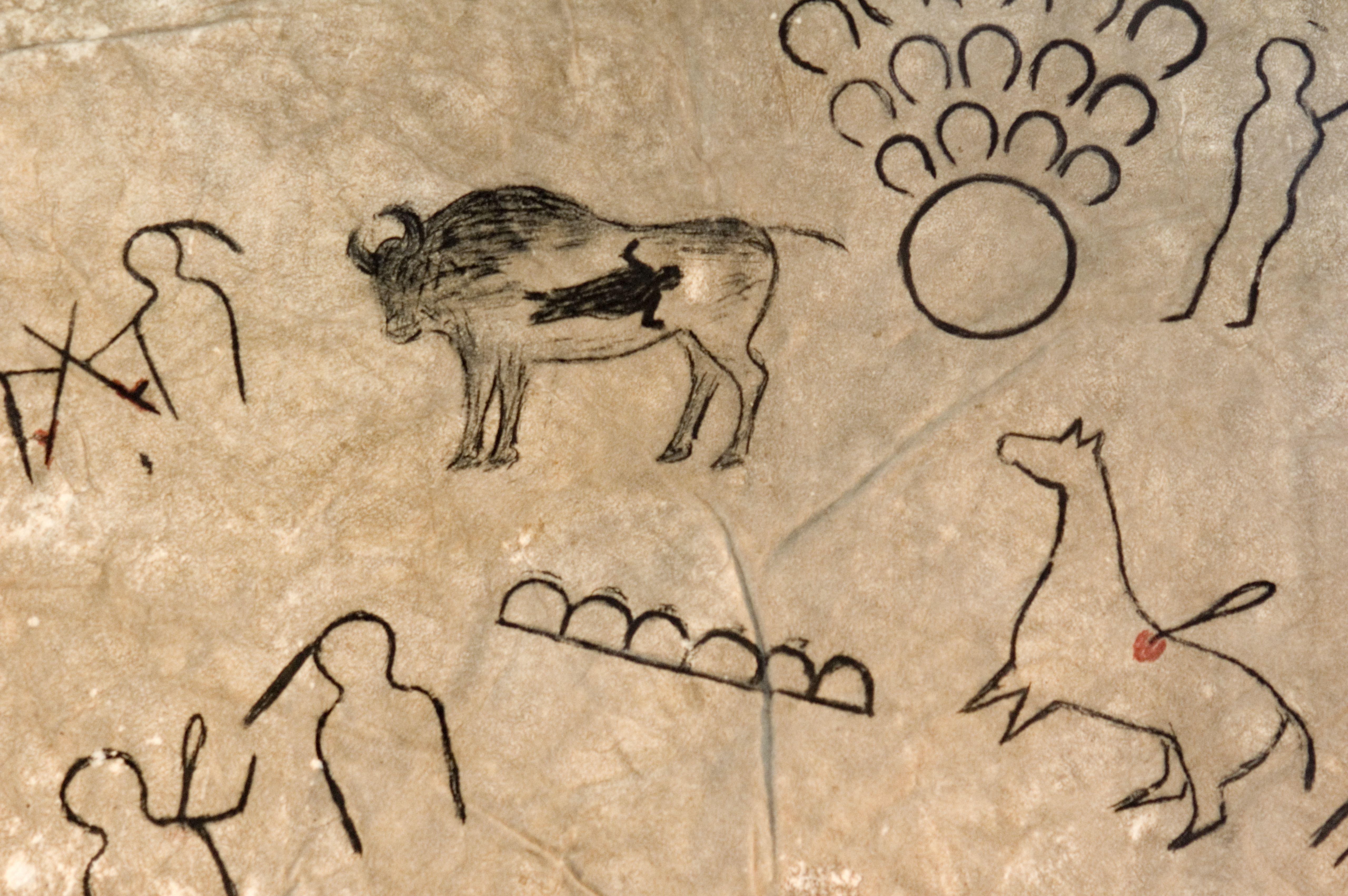 Symbols Painted on Hide