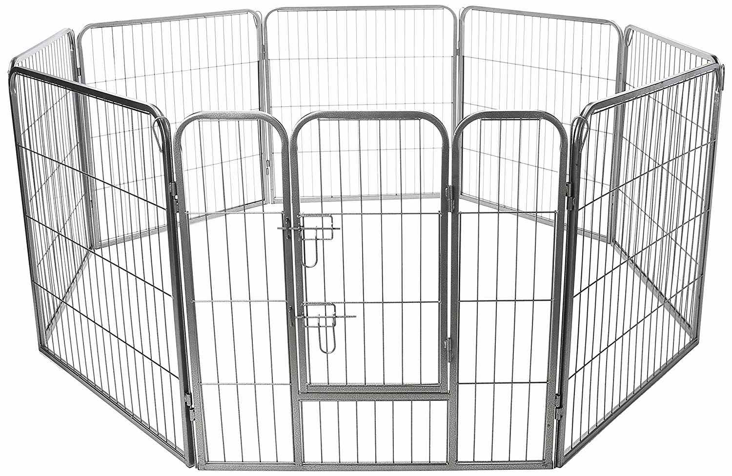 Paws & Pals Dog Playpen Hard Wire Grid Foldable Octagon