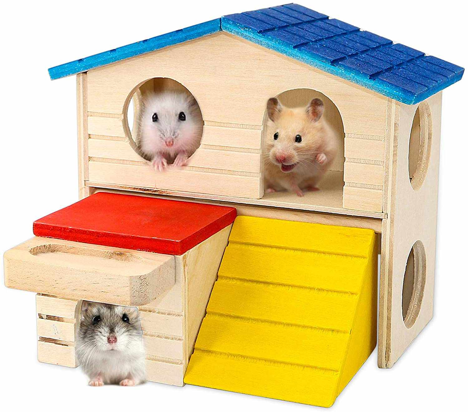 BWOGUE Pet Small Animal Hideout Hamster House