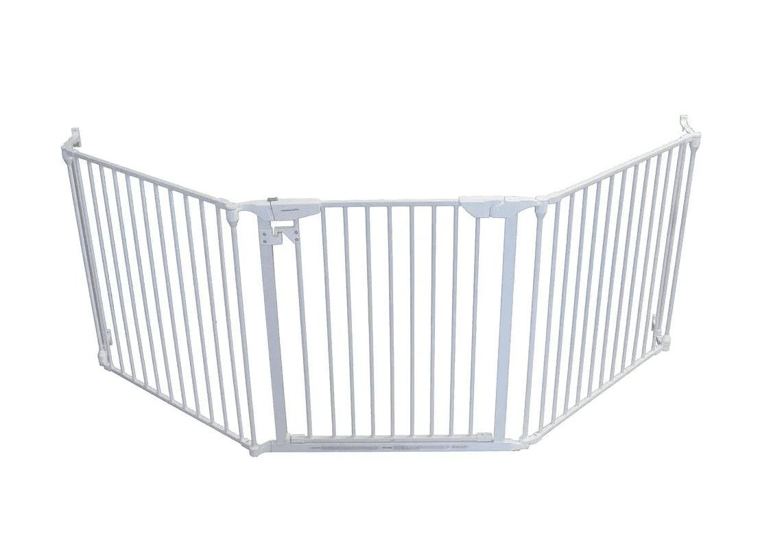 Cardinal Gates Extra Wide Expandable White Pet Gate
