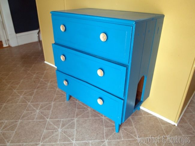 turn dresser into litter box
