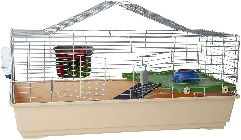 AmazonBasics Small Animal Cage Habitat With Accessories