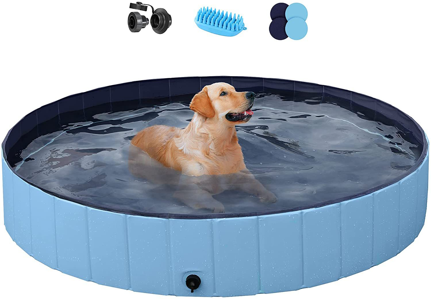 YAHEETECH Red Foldable Swimming Pool