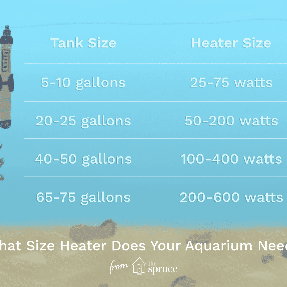 Aquarium Heater Size Guide