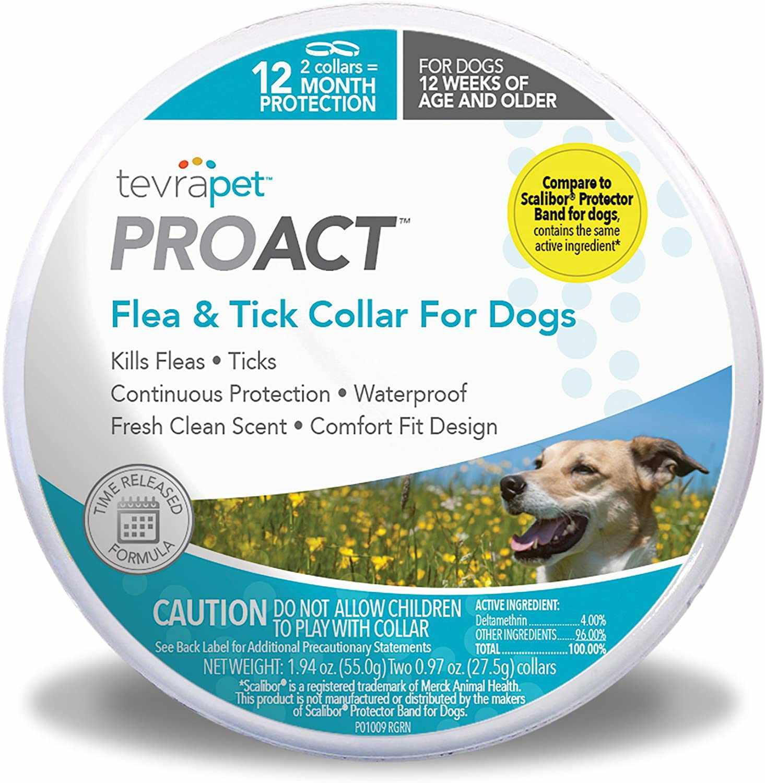 TevraPet ProAct Flea & Tick Collar for Dogs
