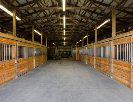 Stall doors in barn