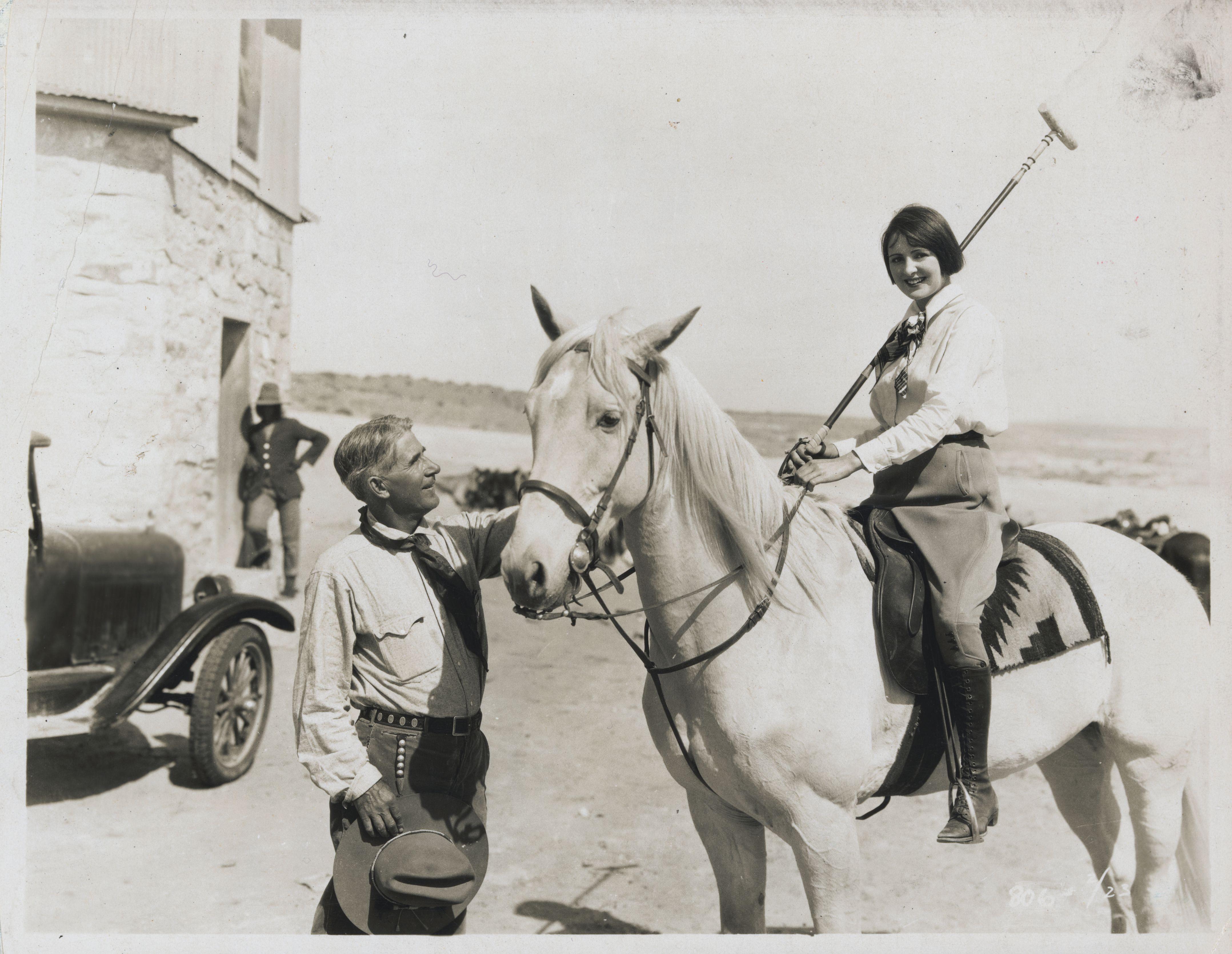 Zane Grey posing with polo player