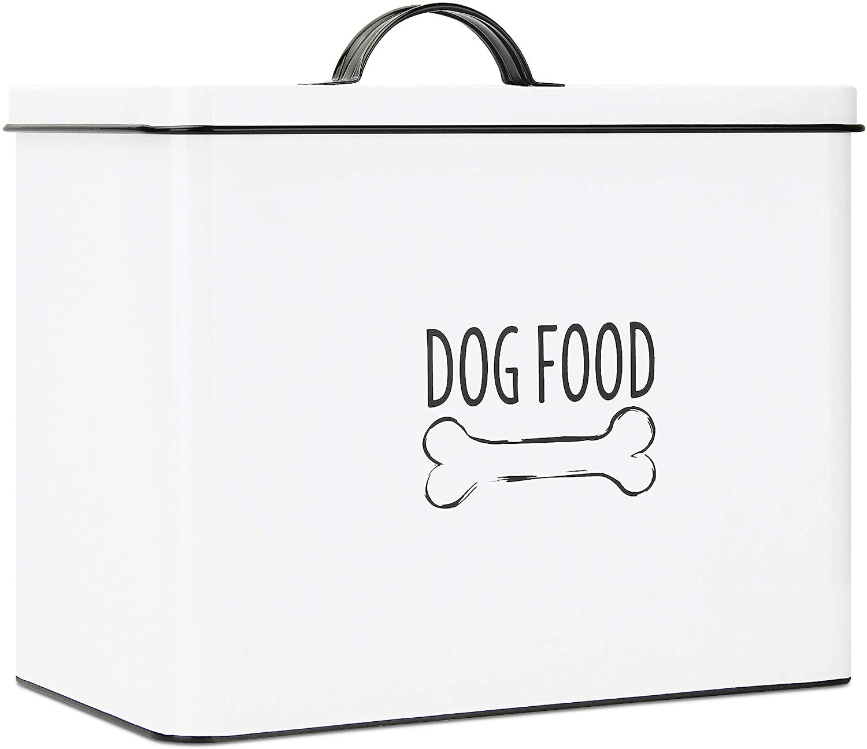 Outshine White Farmhouse Dog Food Bin