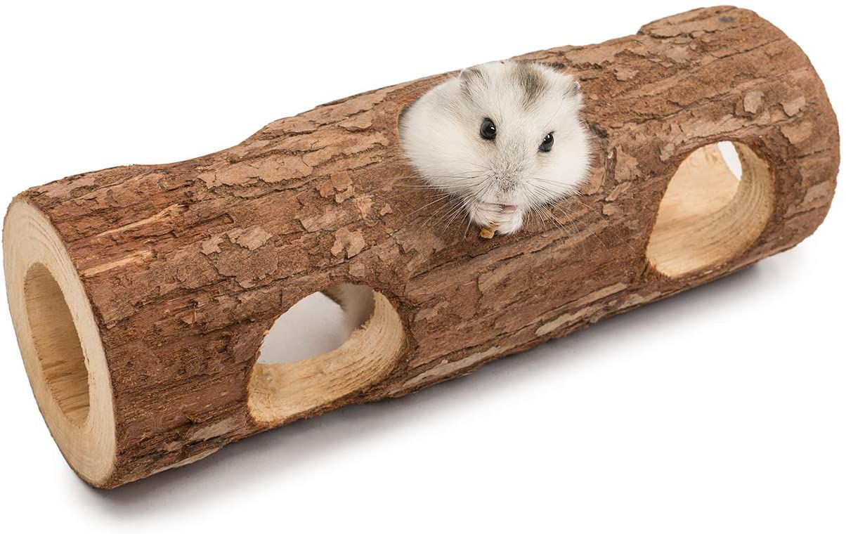 Niteangel Natural Wooden Tunnel Tube Toy