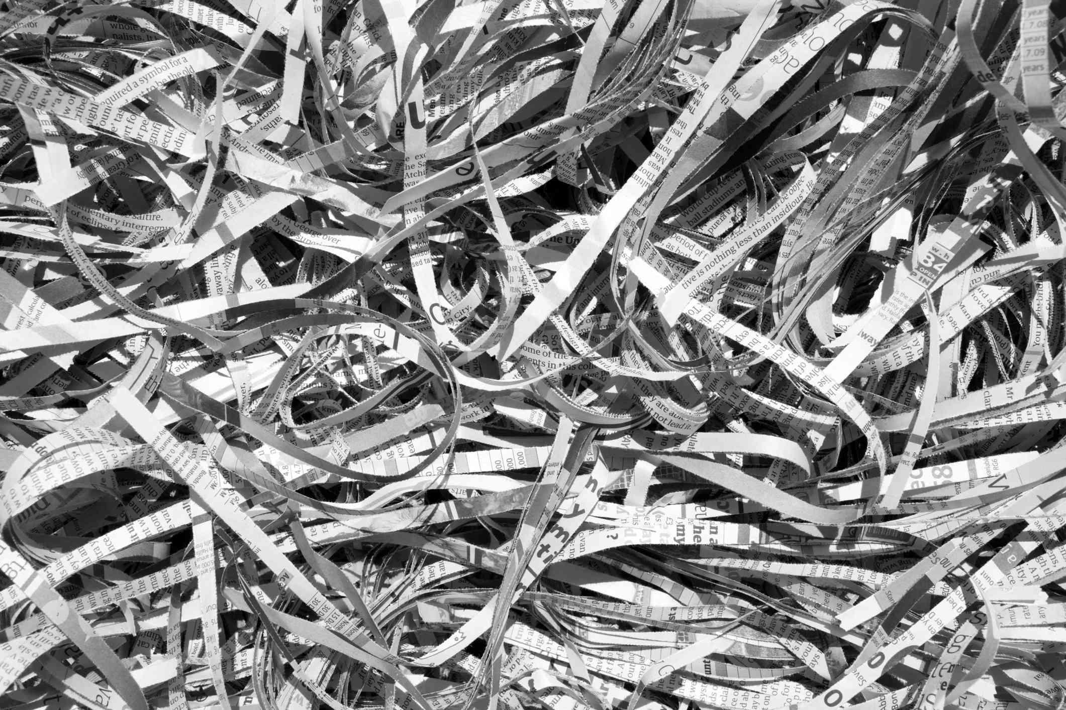 shredded newspaper