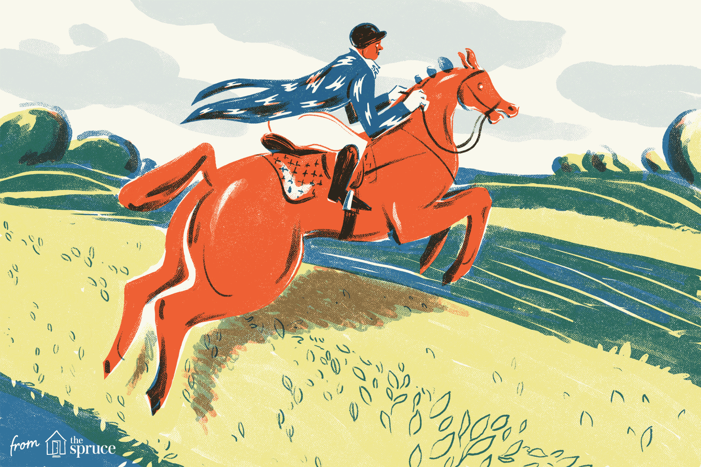 Jumping horse illustration