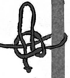 Line Drawing Quick Release Knot
