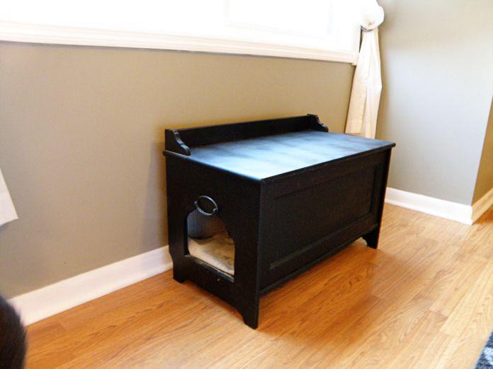 hide a litter box in furniture