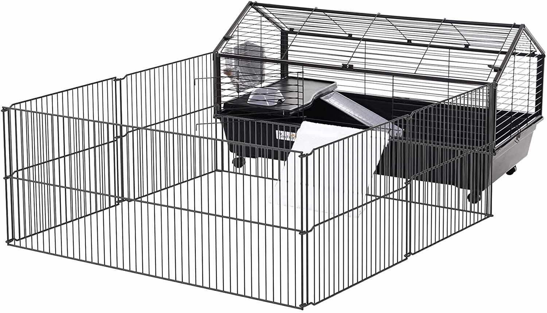 PawHut Small Animal Cage with Run
