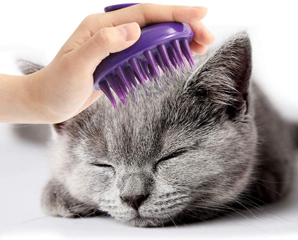 CeleMoon Ultra-Soft Silicone Washable Cat Grooming Brush