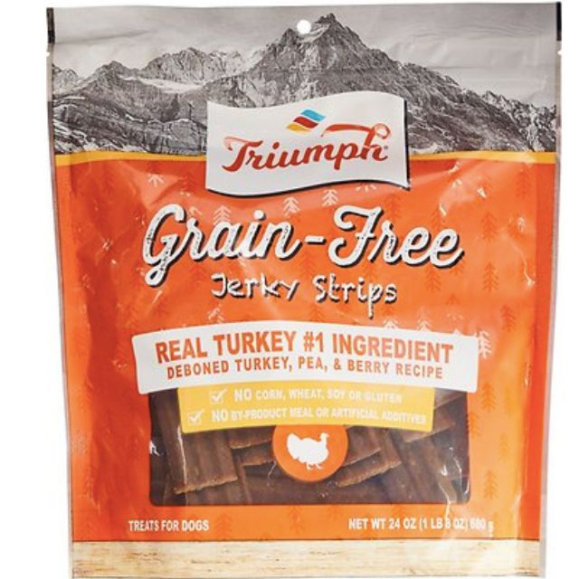 Triumph Grain-Free Turkey, Pea & Berry Recipe Jerky Dog Treats