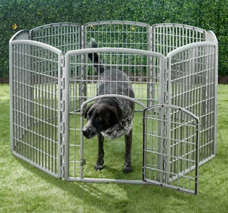IRIS 8-Panel Plastic Exercise Dog Playpen