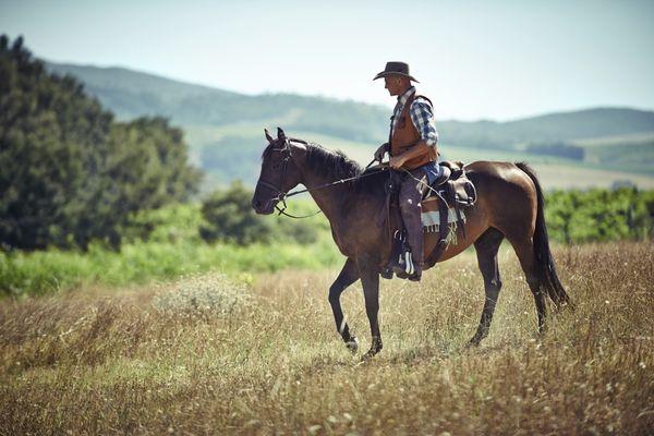 A western lone rider.