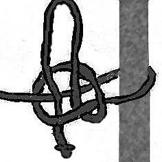 Nudo de liberación rápida de dibujo lineal