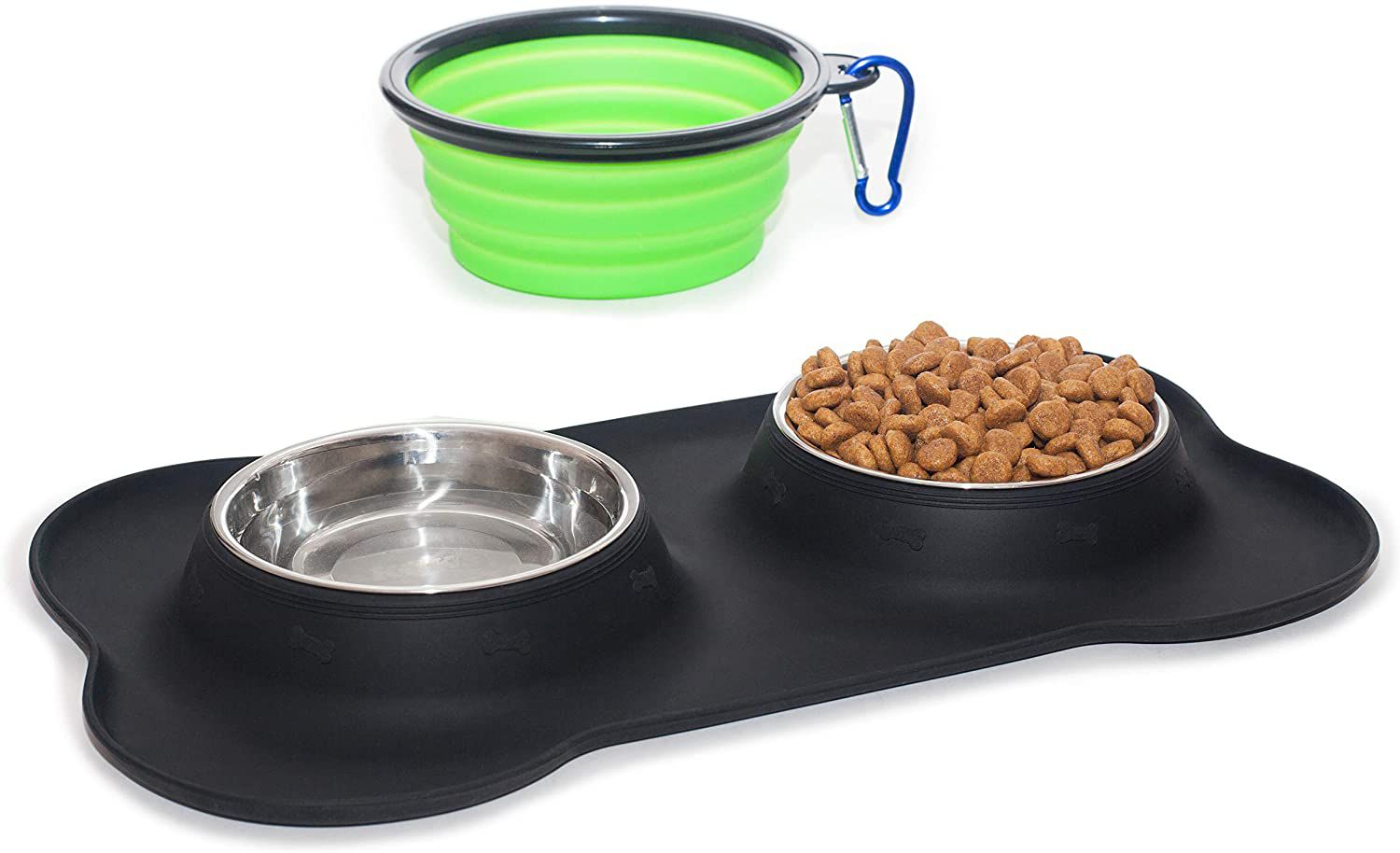 KEKS Small Dog Bowls Set of 2 Stainless Steel Bowls