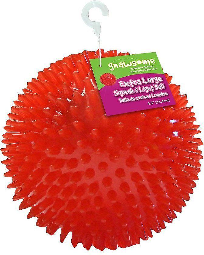 Gnawsome Squeak & Light LED Ball Dog Toy