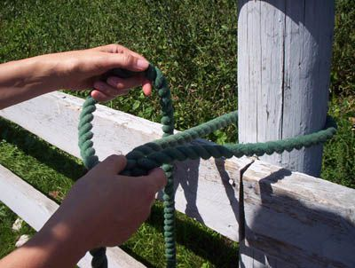 Step Two Tie a Quick Release Knot