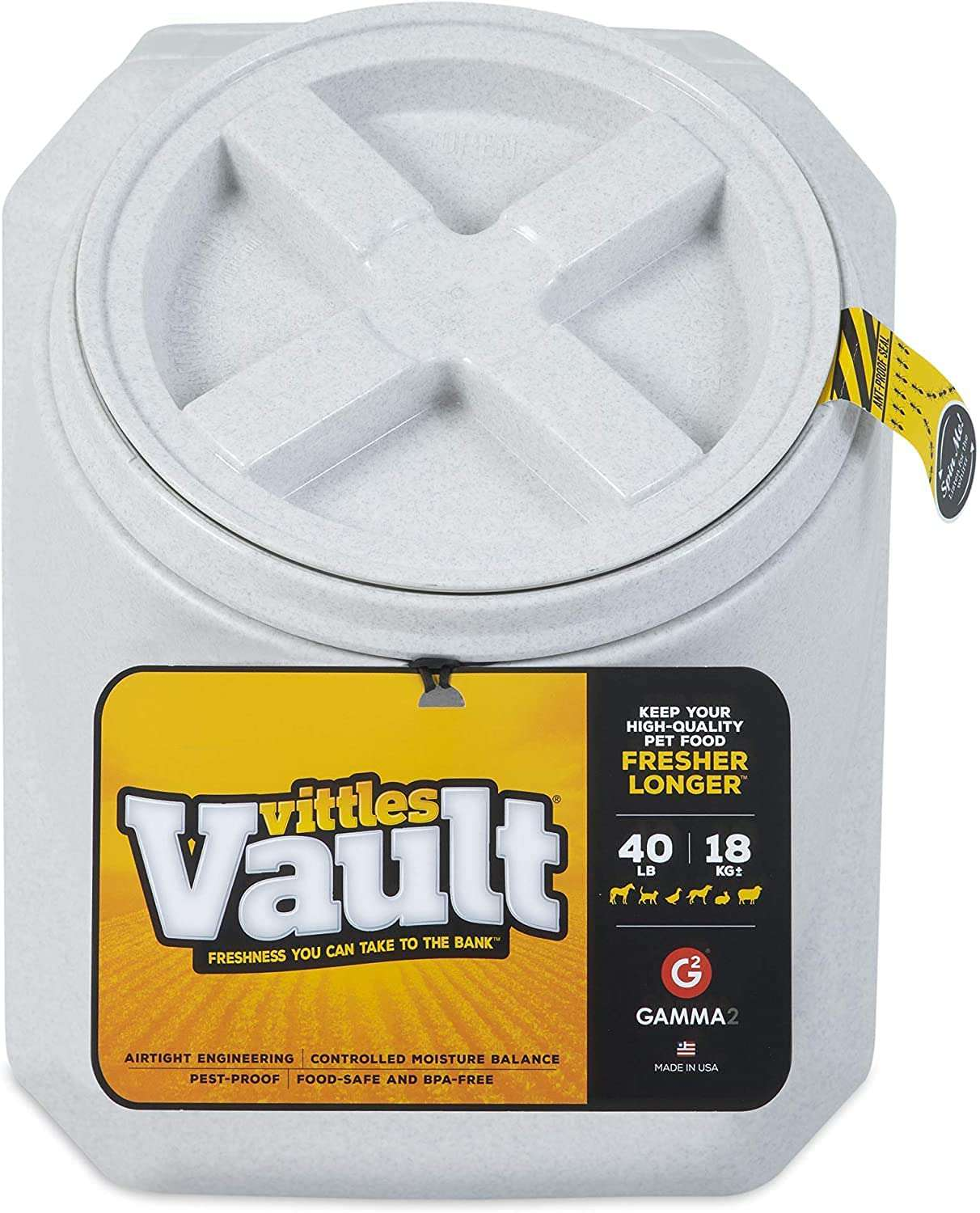 Gamma2 Vittles Vault Outback Stackable Pet Food Storage Container