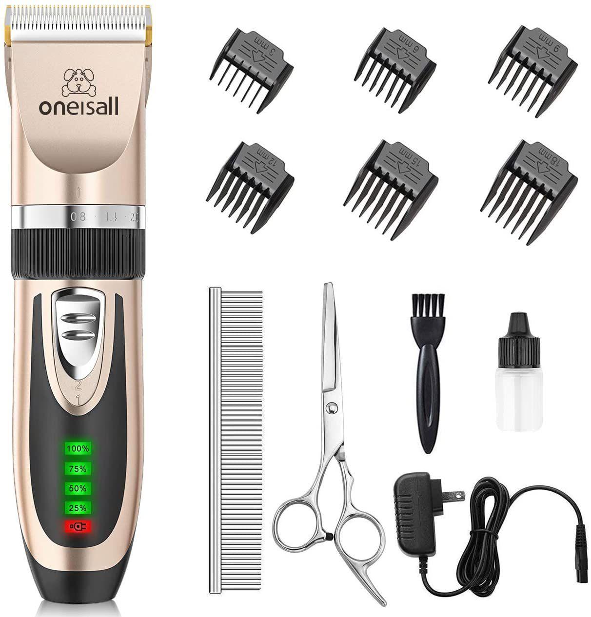 oneisall Cordless Dog Grooming Kit