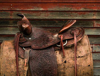Vintage Western Leather Saddle