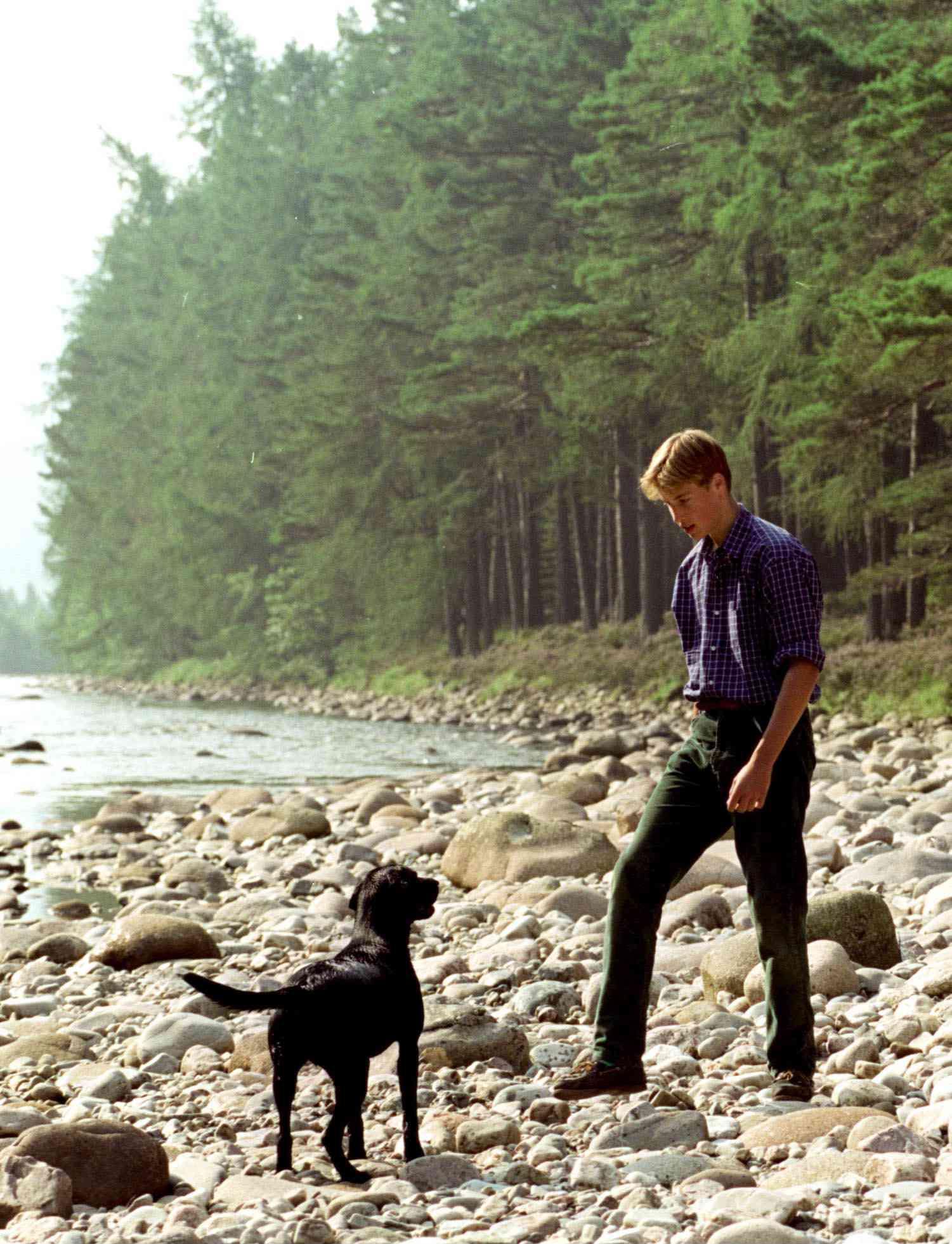 Prince William and his labrador