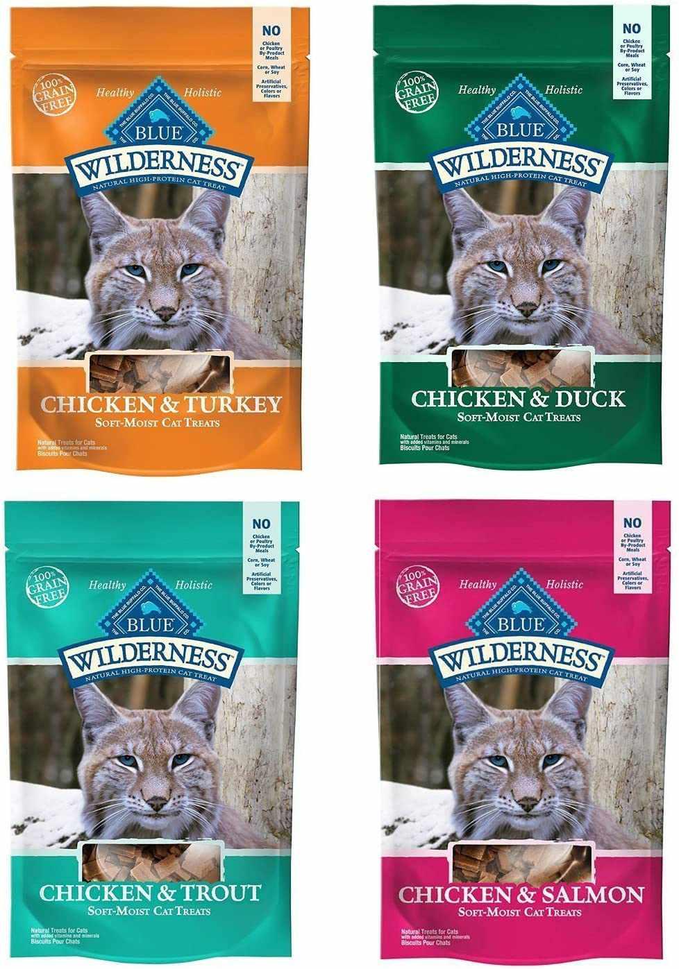 Blue Wilderness Soft-Moist Grain-Free Cat Treats Variety Pack