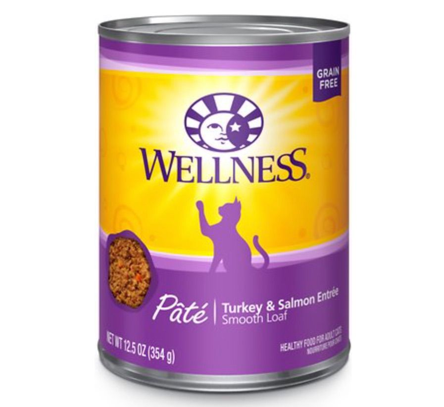 Wellness Turkey and Salmon canned cat food