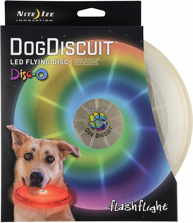 Nite Ize Dog Discuit Disco LED Light-Up Flying Disc