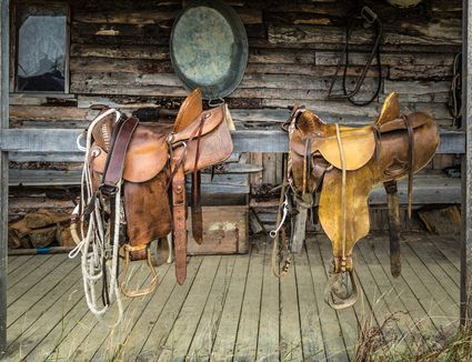Hand made leather western saddles