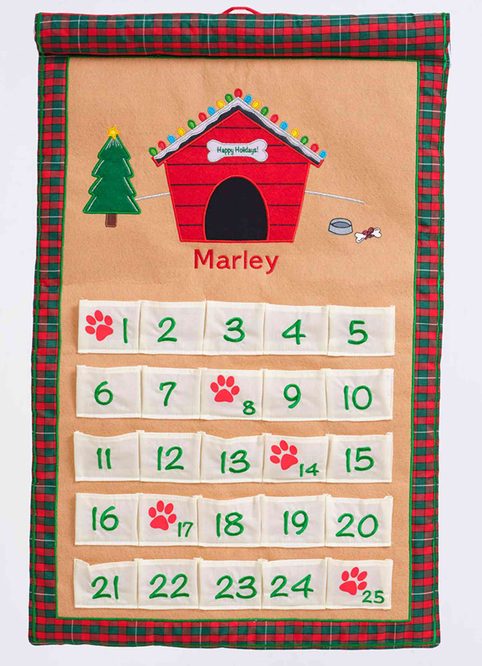 Pockets of Learning Personalized Dog Advent Calendar