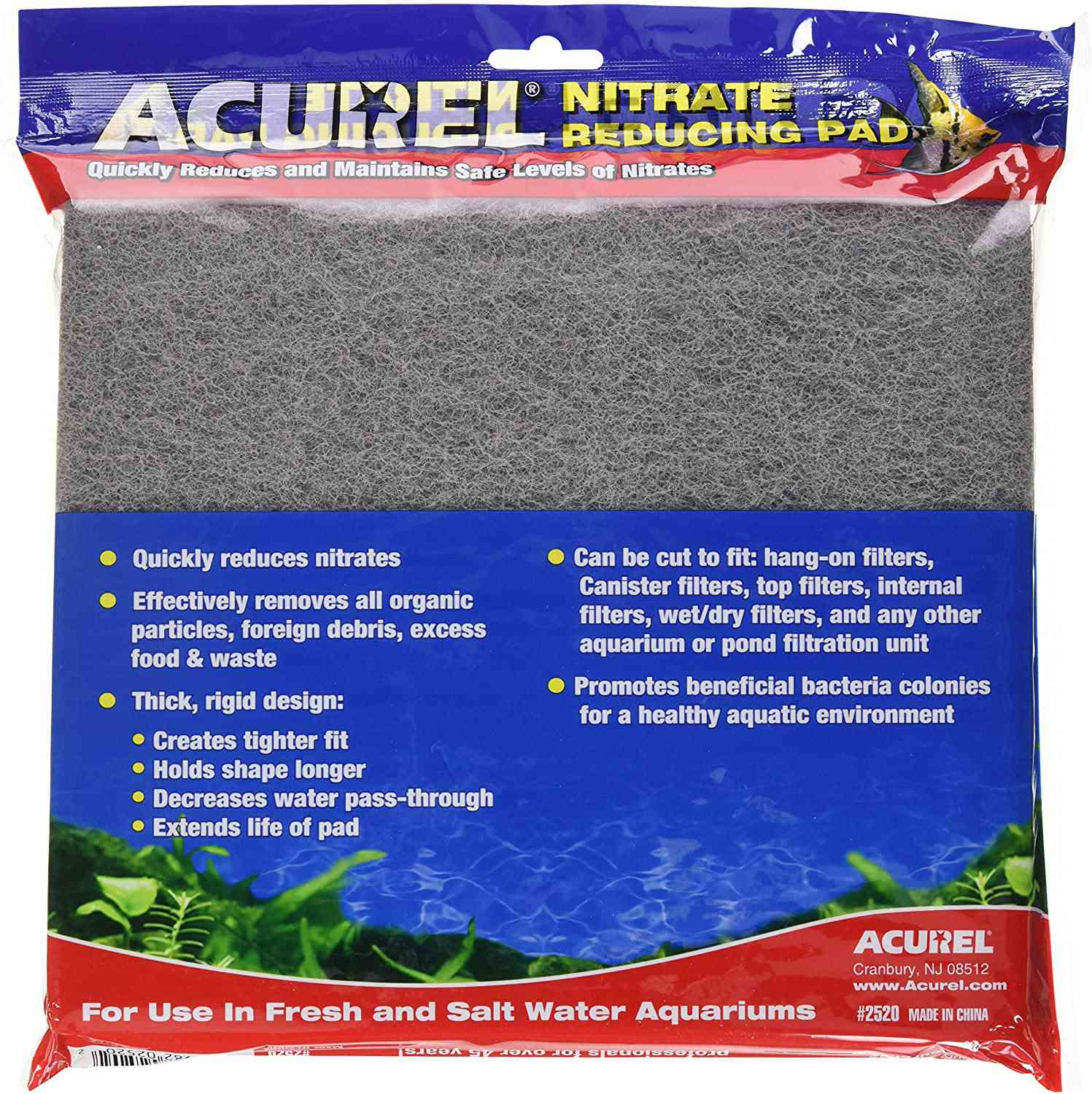 Acurel LLC Infused Media Pads for Aquariums and Ponds