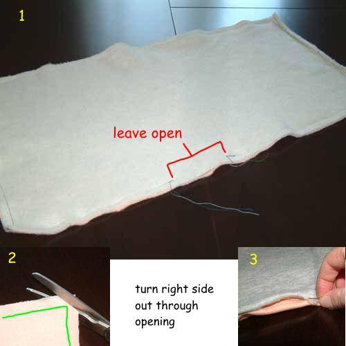 Sewing the base of a pet hammock