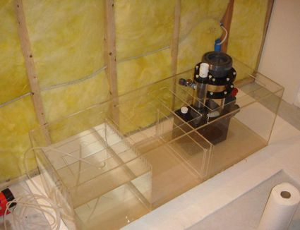 A new sump with three compartments including a protein skimmer