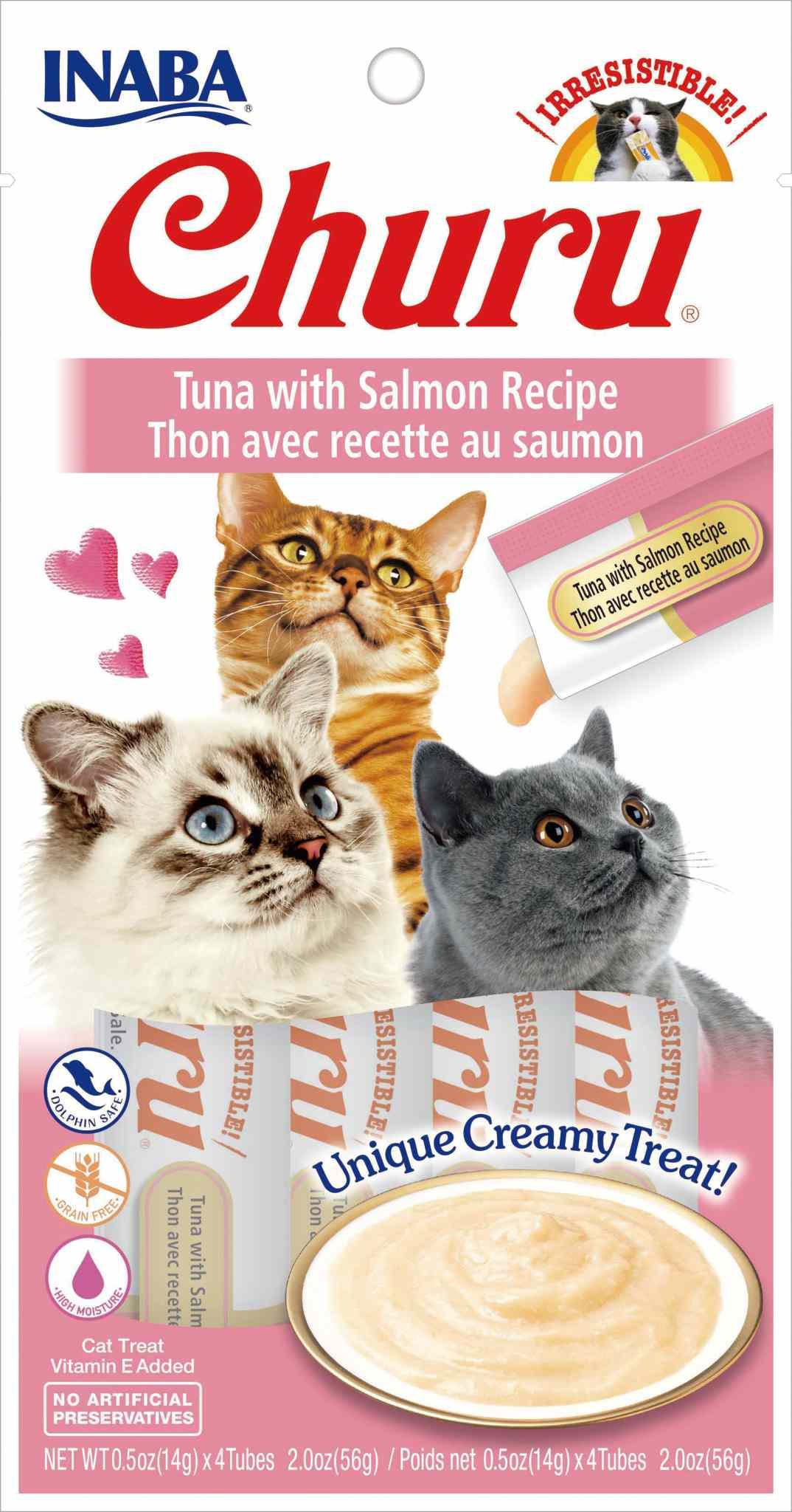INABA Churu Grain-Free Tuna with Salmon Puree Lickable Cat Treat