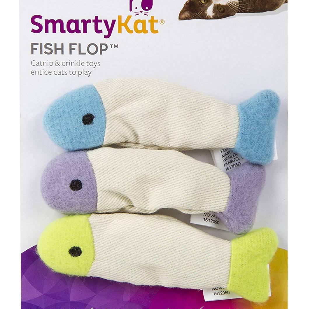 Smarty Kat Fish Flip catnip toys
