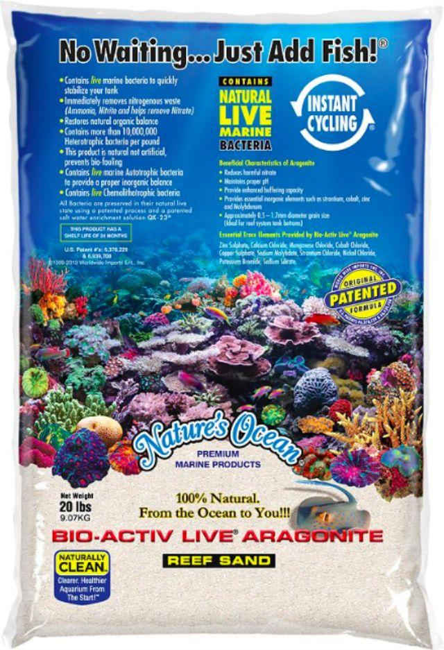 Nature's Ocean Bio-Activ Live Aragonite Saltwater Aquarium Sand