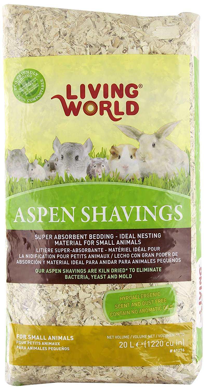 Aspen shavings small pet bedding