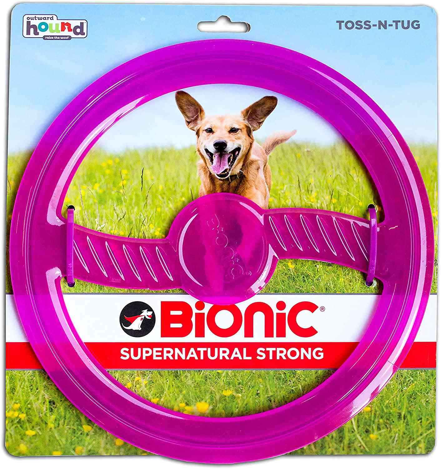 Outward Hound BIONIC Toss N' Tug Fetch and Chew Toy for Dogs