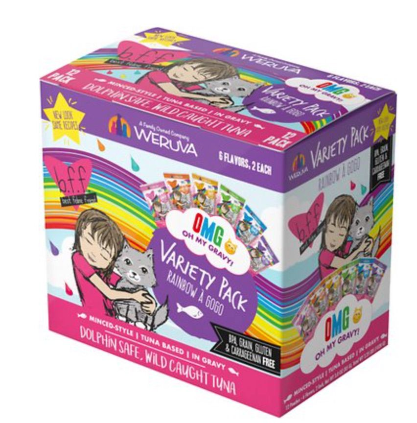 Weruva BFF OMG Rainbow A Gogo Variety Pack Wet Cat Food Pouches