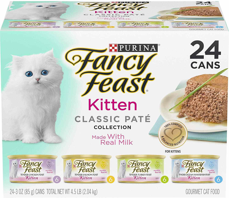 Purina Fancy Feast Grain Free Pate Wet Kitten Food Variety Pack