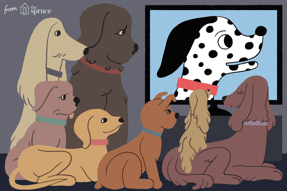 illustration of top animated dog movies