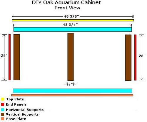 DIY Oak Aquarium Cabinet Plans