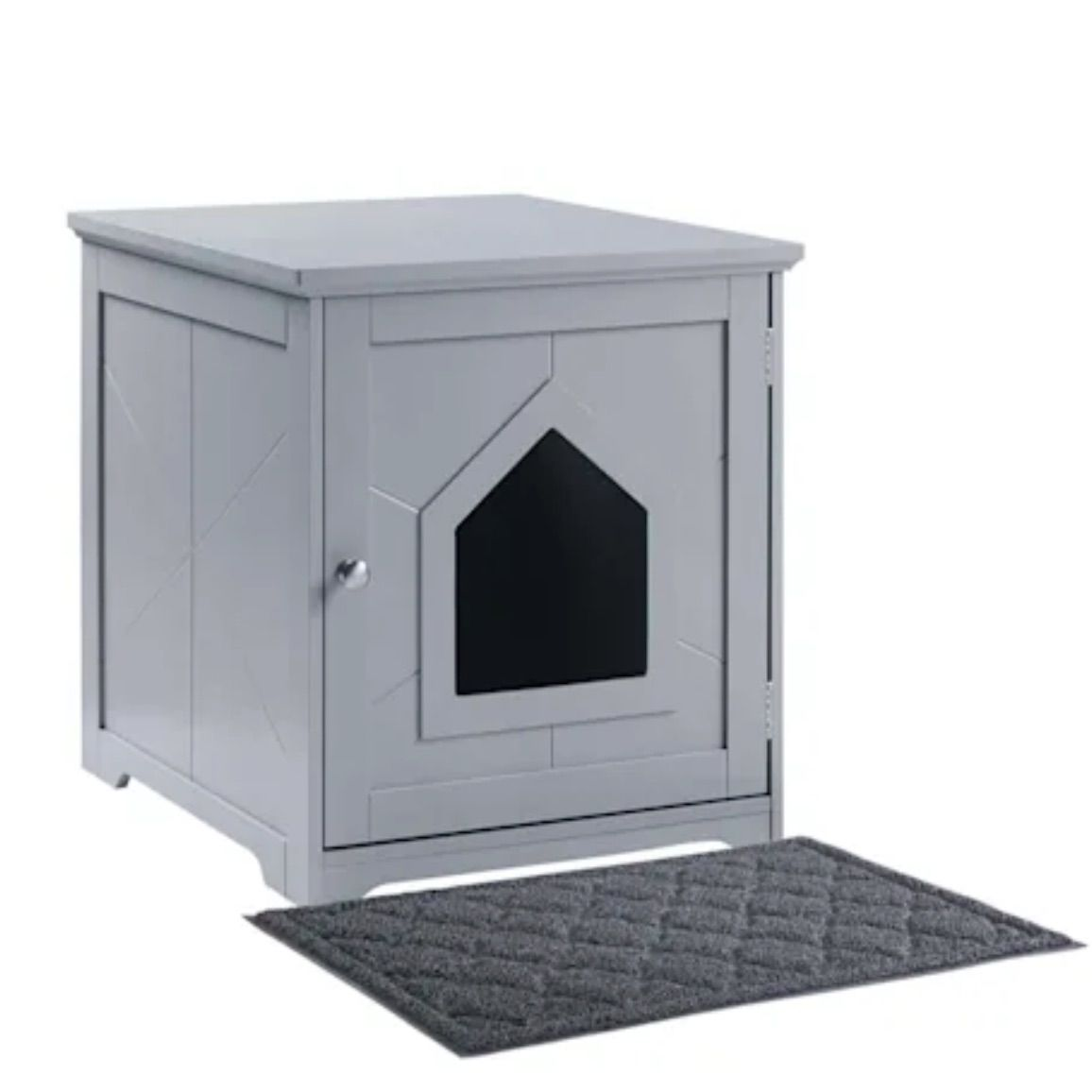 UniPaws Gray Indoor Cat House with Mat